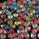 1000 pcs Wedding Dress Accessories Silvertone Dot Inlaid Mixed Resin Trigonal Beads Findings ZZ5127