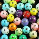 1800 pcs Silvertone Dot Inlaid Mixed Ball Resin Beads Findings ZZ549