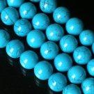 10 Strand 15inch Polished Blue Gemstone Loose 0.4inch Beads ZZ5098