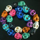 10 Strand (23pcs/s) Jewelry Findings Accessories Mixed Turquoise Skull Beads ZZ5072