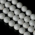 10 Strand 15inch Polished White Gemstone Loose 0.5inch Beads ZZ5085