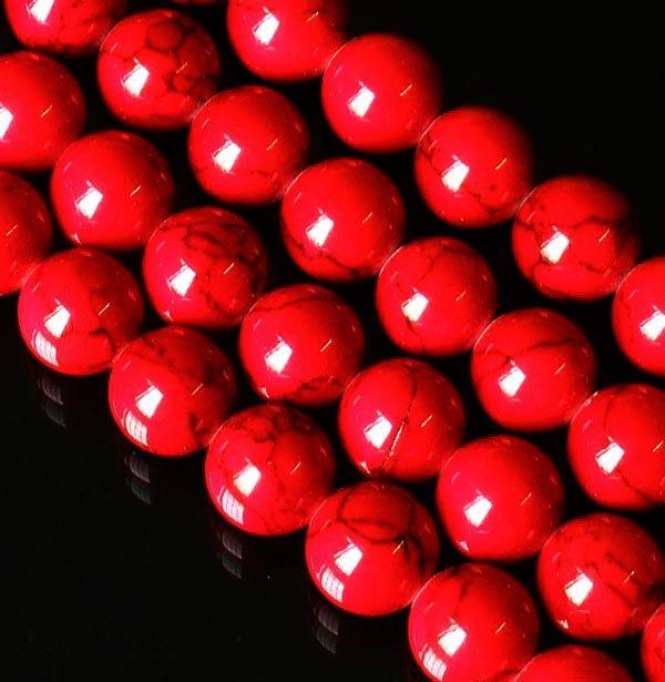10 Strand 15inch Polished Dark Red Gemstone Loose 0.5inch Beads ZZ5088