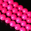 10 Strand 15inch Polished Hot Pink Gemstone Loose 0.5inch Beads ZZ5089