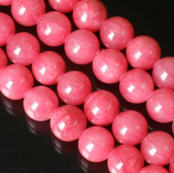 10 Strand 15inch Polished Light Red Gemstone Loose 0.5inch Beads ZZ5093