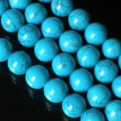 10 Strand 15inch Polished Blue Gemstone Loose 0.5inch Beads ZZ5097