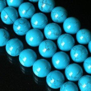 10 Strand 15inch Polished Blue Gemstone Loose 0.5inch Beads ZZ5097