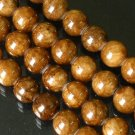 10 Strand 15inch Polished Brown Gemstone Loose 0.5inch Beads ZZ5098