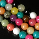 10 Strand 15inch Polished Mixed Gemstone Loose 0.5inch Beads ZZ5100