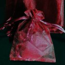 50pcs Dark Wine Red 2.7x3.5inch(7x9cm) Organza Bag Pouch for Gift Jewelry Solid Color