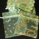 50pcs Mint Light Green 2.7x3.5inch(7x9cm) Organza Bags Pouch for Gift Jewelry Random Design