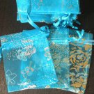50pcs Baby Blue 2.7x3.5inch(7x9cm) Organza Bags Pouch for Gift Jewelry Random Design