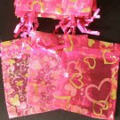 50pcs Hot Pink 2.7x3.5inch(7x9cm) Organza Bags Pouch for Gift Jewelry Random Design