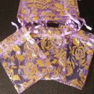 50pcs Purple 2.7x3.5inch(7x9cm) Organza Bags Pouch for Gift Jewelry Random Design