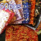 50pcs Mixed 3.5x4.6inch(9x12cm) Organza Bags Pouch for Gift Jewelry Random Design