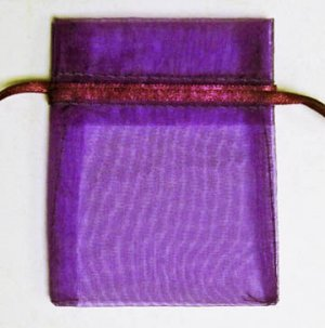 50pcs Dark Purple 6.5x9inch(17x23cm) Organza Bags Pouch for Gift Jewelry Solid Color