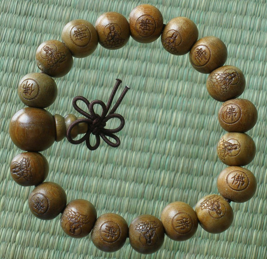 Wholesale 12pcs Green Sandalwood Beads(0.4inch) Buddhist Prayer Mala Bracelet