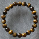 Wholesale 12pcs Natural Tiger Eye Gemstone Buddhist Mala Bracelet BG21