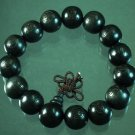 Wholesale 12pcs Carved Black Wood Beads Buddhist Prayer Mala Bracelet DI79