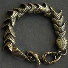 Wholesale 12pcs Alloy Zinic Brass Men's Gift Joint Section Snake Python Boa Anaconda Bracelet