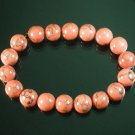 Wholesale 12pcs Tibetan Pink Red Gemstone Bead Buddhist Mala Bracelet WZ221