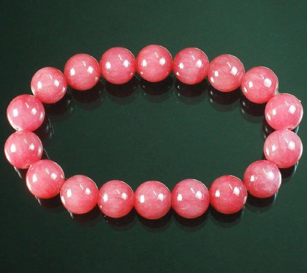 Wholesale 12pcs Tibetan Pink Red Gemstone Bead Buddhist Mala Bracelet WZ214