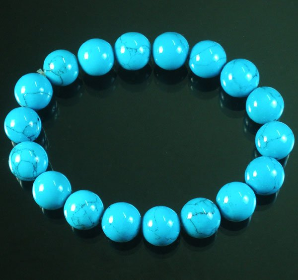Wholesale 12pcs Tibetan Blue Veins Gemstone Bead Buddhist Mala Bracelet WZ209