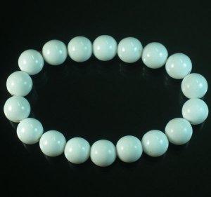 Wholesale 12pcs Tibetan White Gemstone Bead Buddhist Mala Bracelet WZ207