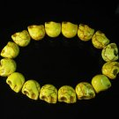 Wholesale 12pcs Yellow Turquoise Skulls Chain Bracelet for Men Women ZZ2151