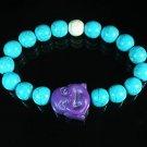 Wholesale 12pcs Turquoise Purple Smile Buddha Blue White Veins Beads Stretch Bracelet ZZ2322