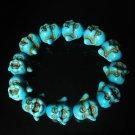 Wholesale 12pcs Turquoise Colorful Baby Blue Buddha Beads Stretch Bracelet for Men ZZ2604