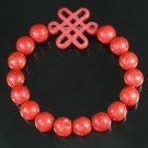 Charming Turquoise Colorful Chinese RED Knot Bead RED Veins Beads Stretch Bracelet ZZ2741