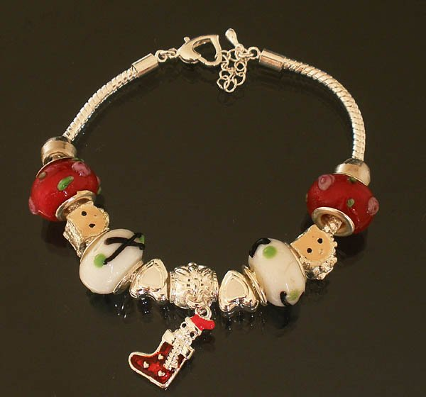 Plated Aldary Adjustable Chains Colorful Glass Beads Europe Bracelet EZ2063