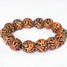 Tibetan Yak Bone Powder Polymer Dragon Beads Bracelet IJ22