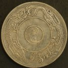 Chinese Feng Shui Bronze Coin - Bagua 8 Diagram Dragon Wu Qian Flower