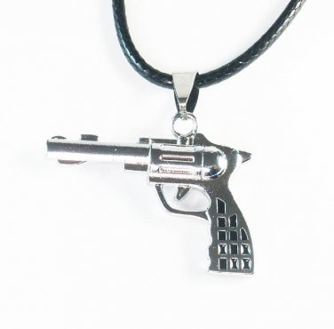 Tungsten Bronze Alloy Plated Gun-Shape Pendant EZ074