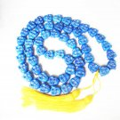 Buddhism Turquoise 40inch 54 Smile Blue Buddha Beads Prayer Mala Necklace ZL1076