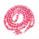 Fashion Jewelry Cool Turquoise 108 Hot Pink Vein 10x12mm Skull Beads Necklace