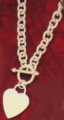 Silver Heart Pendant & Chain Necklace ( 0403J-S-N494 )