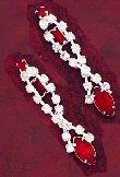 Austrian Crystal Drop Earrings ( 0225J-S-E53R )