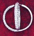 CZ Stone Hoop Earrings ( 0229J-S-E197 )