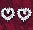 CZ & White Gold Plated Heart Cluster ( 0234J-S-E242 )