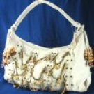 Jumbo Handbags with Front Chain & Wooded Bead Design 0540HB-98072