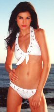 Nautical Halter Top with Eyelette Weave and Bikini Bottom 0637SM-61030