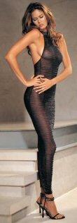 Lurex Zebra Pattern Long Dress  0486L-8211