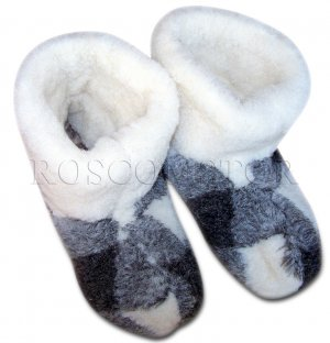 SHEEP WOOL SLIPPERS BOOTS 100% PURE WOOL MEN SIZE 11 US/ 10.5 UK/ 44 EU NEW
