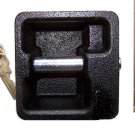 EXTRA STRONG CAST IRON PADLOCK square shape NEW