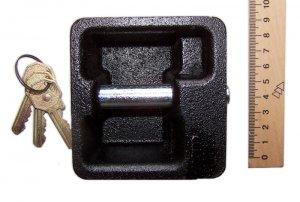 EXTRA STRONG CAST IRON PADLOCK square shape NEW