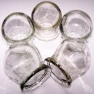 SET OF 5 GLASS MASSAGE CUPS. CHINESE MASSAGE THERAPY. NEW
