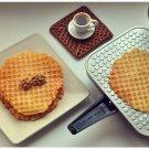ELECTRIC WAFFLE MAKER. SQUARE IRON MAKER. NIB. Thin waffles. 220V
