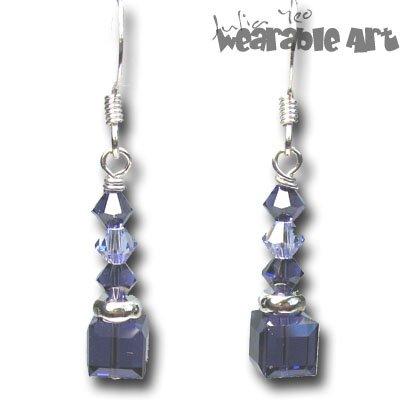 Purple Velvet - Swarovski Crystal Earrings